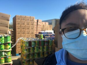 NNGO grad Sucely Garcia helping at the Northern Illinois Food Bank